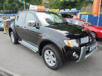 2009 59 MITSUBISHI L200 2.5 DI-D WARRIOR IN BLACK # FULL BLACK LEATHER FSH #
