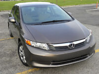 CIVIC LX 2012 NO ACCIDENT ONE OWNER BLUETOOTH CERTIFIED ONLY 63K City of Toronto Toronto (GTA) Preview