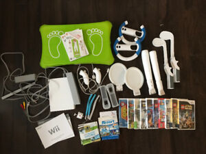 Wii bundle with accessories and games