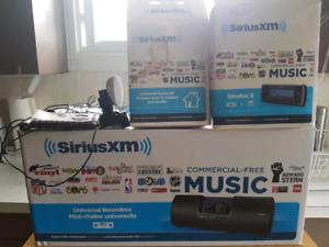 Sirius XM Universal Boombox & more