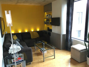 Penthouse on 2 levels with private patio (Square Cartier)