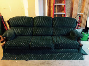 Old green couch