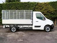 """2014 (14) RENAULT MASTER CCML35 R.W.D 10'6"""" L2 MWB DROPSIDE CAGE PICK UP"""