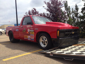 1988 Chevy S-10 Race/Drag Truck w/trailer
