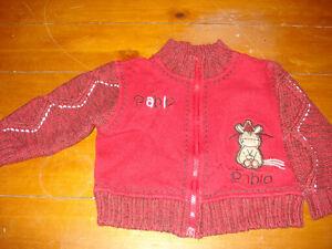 Belle veste rouge chaude 12 mois