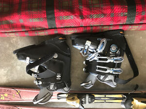 downhill ski packages poles boots skis and glasses