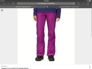 Women's PATAGONIA Snowbelle snow pant - med size 6-8