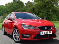 SEAT Leon 1.4 TSI FR (Tech Pack) 5dr (start/stop) (red) 2014