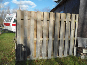wooden fence sections