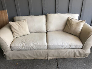 Cream Linen Couch - in excellent condition!