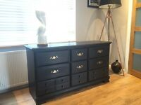 Black large vintage/shabby chic sideboard