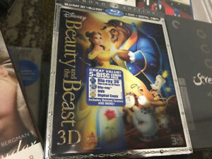 Beauty and the Beast 3D with slipcover RARE $100