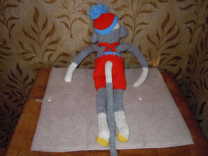 stuffed sock monkeys with knitted outfits Peterborough Peterborough Area image 5