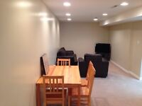 2 bedroom furnished clean and bright basement suite