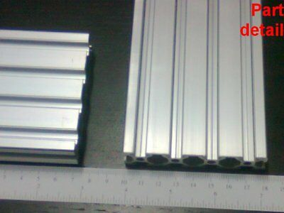Aluminum T-slot Extruded Profile 20x80-6mm L600 800 1000 1200 Or 1500mm -3pcs