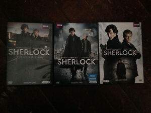 Sherlock season 1-3 DVDs