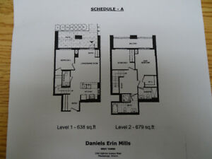 Condo Town Home Mississauga, Near Credit Valley Hosp. by Daniels