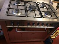 Indesit dual fuel commercial cooker