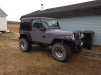 Jeep wrangler 95 with 350 motor
