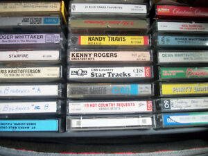 CASSETTE 27  MUSIC TAPES . & CASE    NOW  $ 10.00