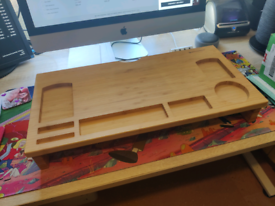 Bamboo Desk Tidy/Monitor Riser - Excellent!