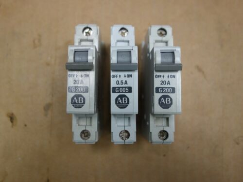NEW Allen Bradley 1492-CB1, 3 Circuit Breakers MIXED LOT