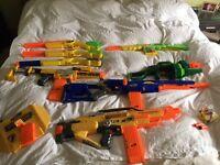 8 nerf guns - Some battery powered