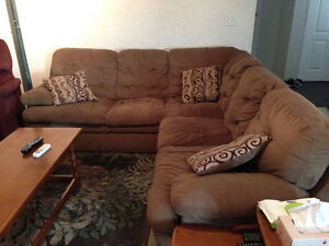 Sectional, wall unit and recliner for sale