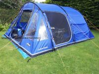 Vango Icarus 500, 5 man tent in good condition includes groundsheet and carpet