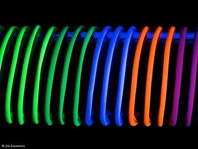 Naturfaserschnur Set 3,5mm 5x5m Leuchtschnur Neon Schwarzlicht Deko Uv
