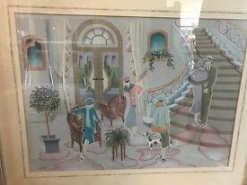 Art Deco limited edition framed print