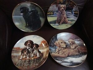 9 COLLECTOR PLATES - 4 DOGS - 5 WILDCATS