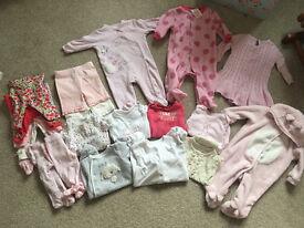 Bundle of baby girl clothes newborn - 0-3 months