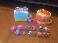 Littlest Pet Shop mini pets and houses
