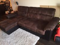 Belize Storage Sofa Bed with Chaise - brown