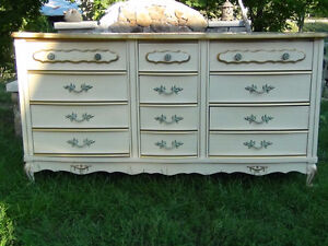 French Provincial Dresser with mirror-Baronet (Nine drawer)