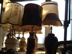 Vintage Lamps $100 +up each, over 50 lamps great 4 movie props.