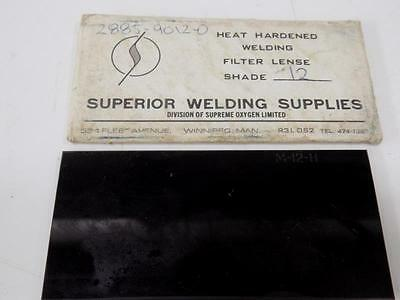 Superior Welding Supplies Heat Harndended Welding Filter Lense Shade 12 Nib