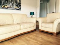 FREE leather 3 seater and chair