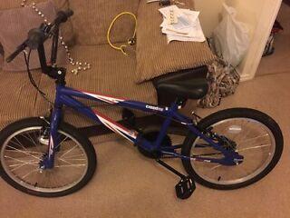 Virtually brand new boys BMX bike