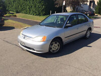 2002 Honda Civic * WINTER TIRES INSTALLED * CAR PROOF AVAILABLE