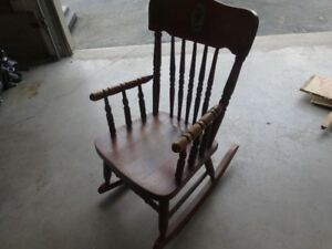 Antique child's wooden rocking chair *reduced price*