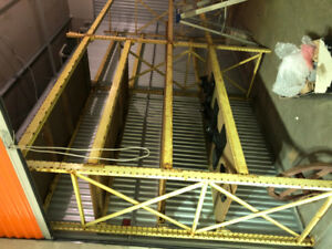 Pallet Sheving  16'x4'x12' with extra shelving poles