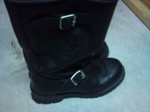 MEN'S  Engineer Motorcycle Boots - Heavy duty leather - Like New