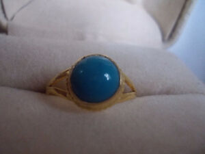 Gold Ring with Turquoise Windsor Region Ontario image 1