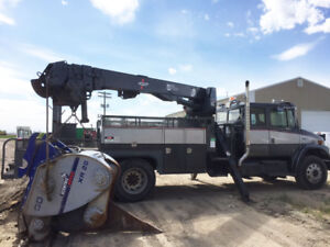 New Safety Freightliner Tandem 47' pitman Crane or cab + chassis