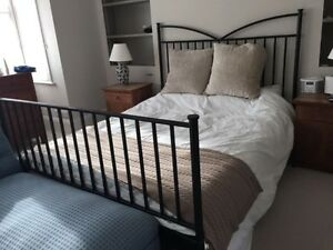 Queen Black Wrought Iron Pillowtop Bed + Free Delivery
