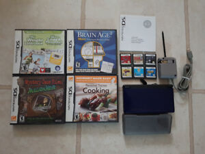 Nintendo DS with lots of games and accessories