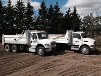 TANDEM DUMP TRUCKS FOR HIRE