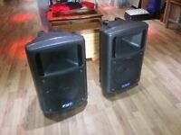 Pair of FBT Maxx4a active speakers for sale . Very good condition with leads stands